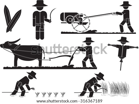 illustration   thai farmer icon