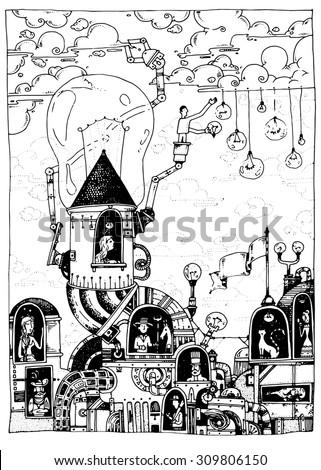illustration the ideas factory