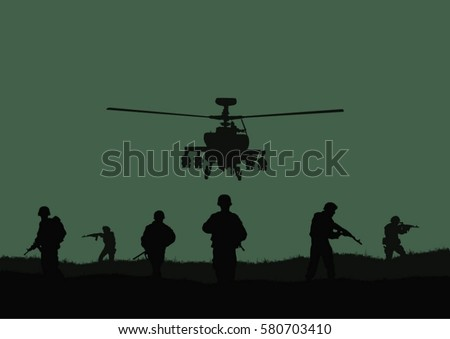 illustration  the soldiers