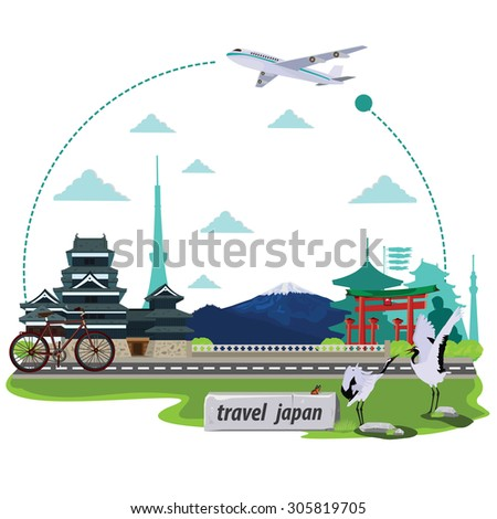 illustration travel around