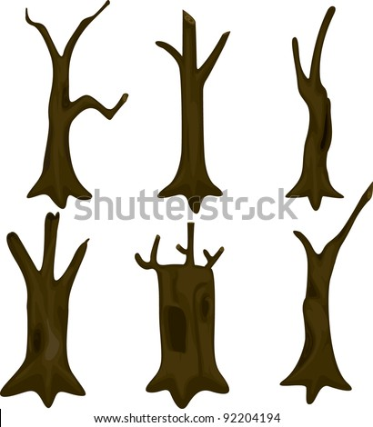 Illustration Tree Trunk - 92204194 : Shutterstock