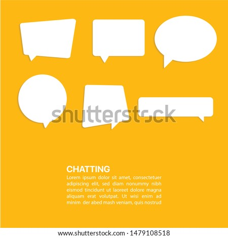 Illustration Vector: Bubble dialog box chatting template