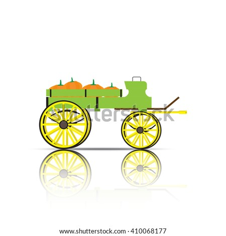 illustration vector cart with...