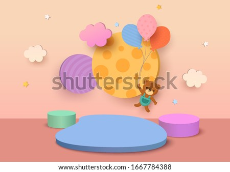 illustration vector 3d style of