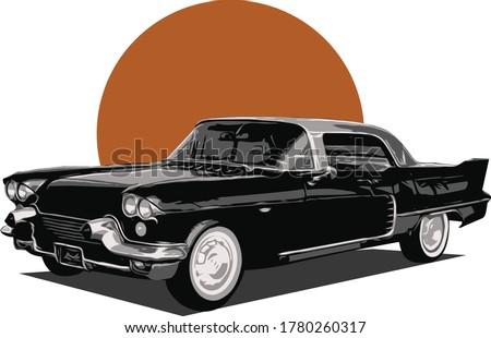 illustration vector design 60's