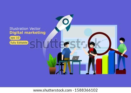 illustration vector digital marketing eps10
