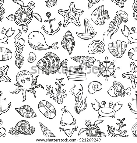 illustration vector doodle set