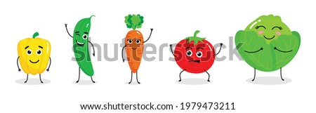 Illustration vector graphic cartoon character of cute. Vegetables cartoon, suitable for children book illustration, poster and etc.