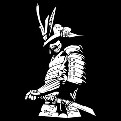 illustration vector graphic of bushido. Good for tattoo, picture, wallpaper, etc.