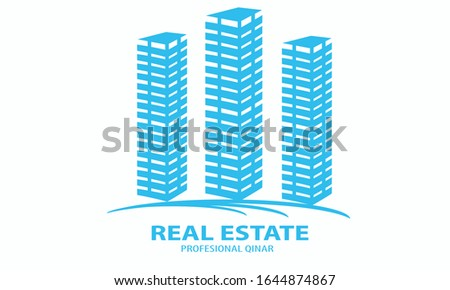 Illustration vector graphic of high rise building. Perfect for those of you who want to have a strong and strong real estate logo.