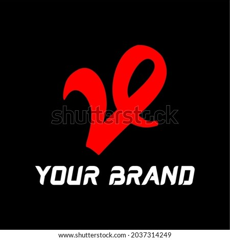 Illustration vector graphic of red V logo. Great for store icons, brands, companies and easy to identify. Stock fotó ©