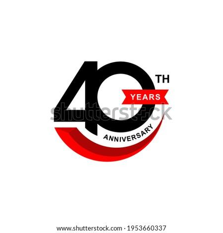 Illustration vector graphic of 40 years anniversary logo design template  ストックフォト ©