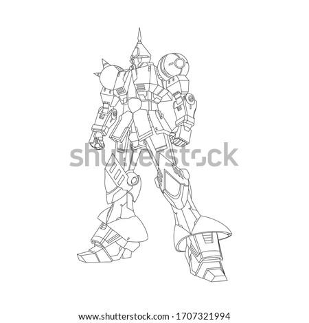 illustration vector  gundam