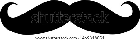 illustration vector icon of mustache