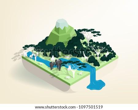 illustration vector isometric