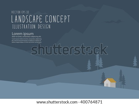 illustration vector landscape