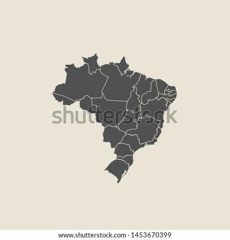 illustration vector map of Brazil