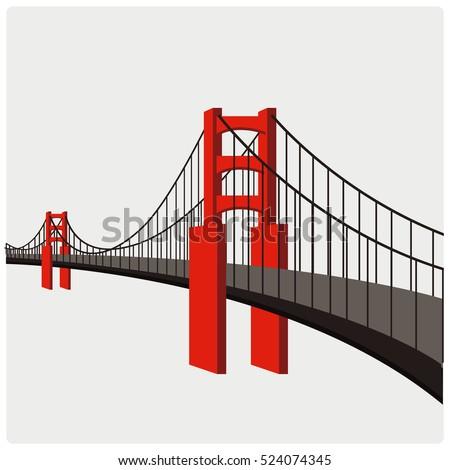 illustration vector of building bridges