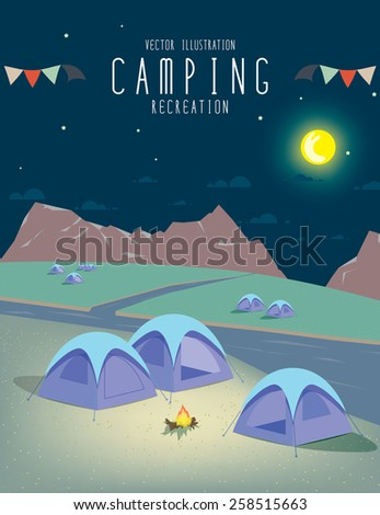 illustration vector of camping