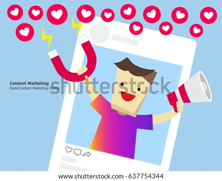 Illustration vector of content marketing concept.