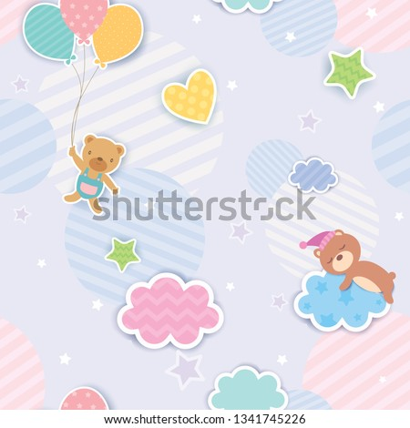 illustration vector of cute