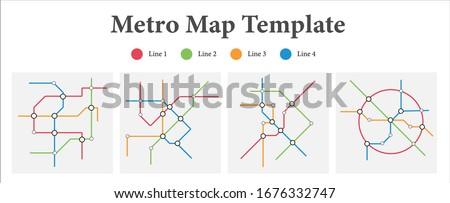 illustration   vector of metro