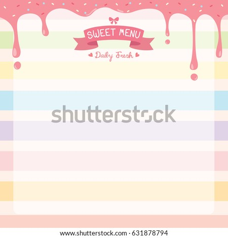 illustration vector of sweet