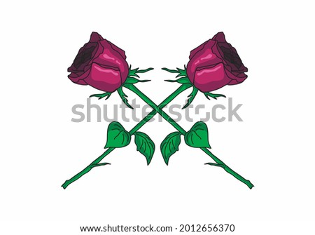 illustration vector of two pink