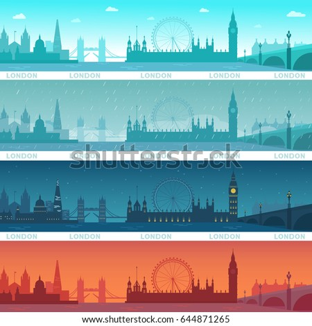 illustration vector set of city