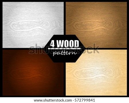 Illustration vector set of wood pattern with down light.
