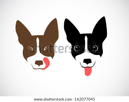 illustration vector style of cute dog