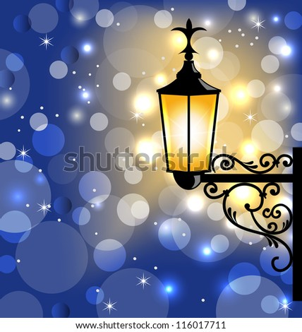 Street Lamp Background Street Lamp Dark Winter