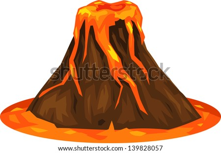 illustration volcano
