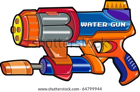 Illustration water gun isolated on a white background.