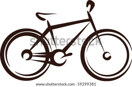Illustration with a bike symbol