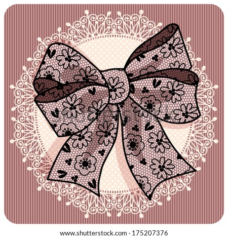 Stock vector shutterstock illustration with a lace bow 175207376
