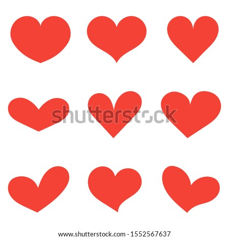 Illustration with a red heart. Vector illustration.
