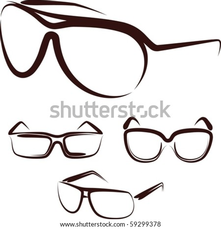 Illustration with a set of glasses