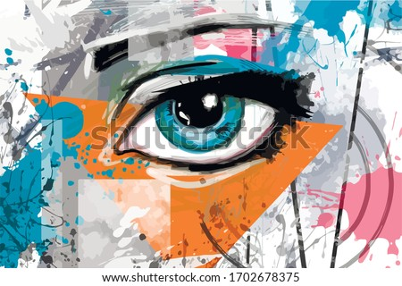 illustration with an eye