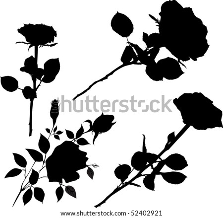 3bc27f451 Black Rose Outline - Download Free Vector Art, Stock Graphics & Images
