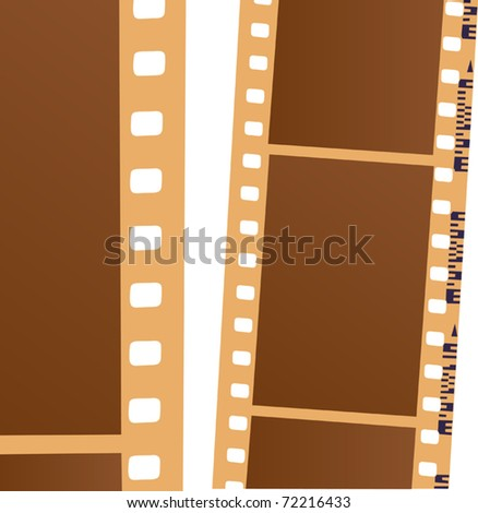 illustration with blank film isolated on white background