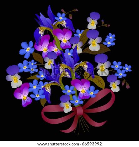 blue flowers bouquet. with lue flower bouquet