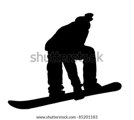 illustration with boy on snowboard