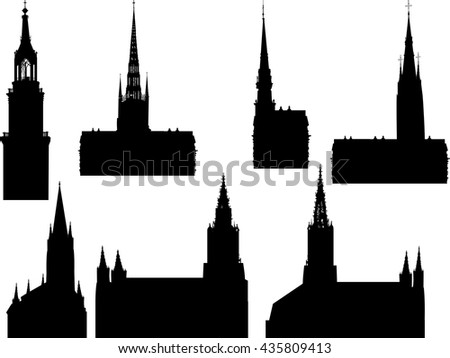 illustration with cathedral