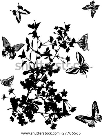Illustrations Of Flowers. stock vector : illustration
