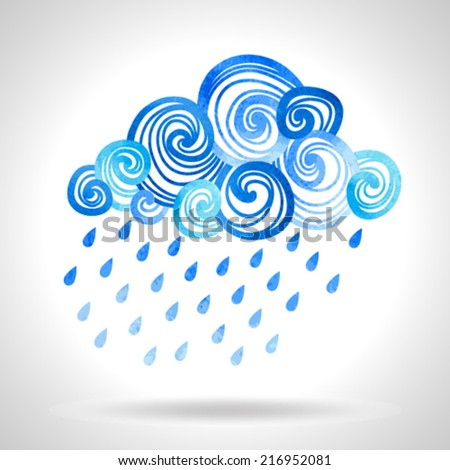 illustration with cloud and