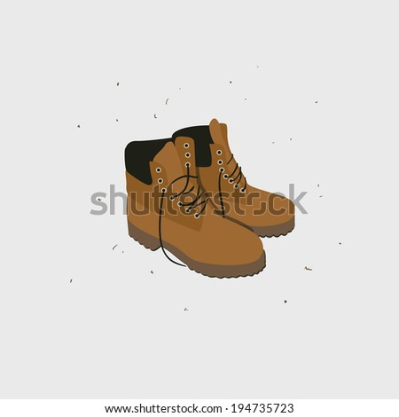 illustration with fashionable shoes with laces