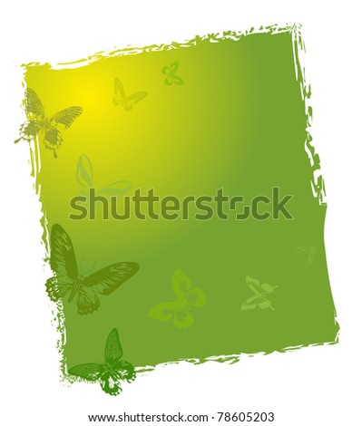 illustration with green