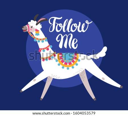 illustration with llama