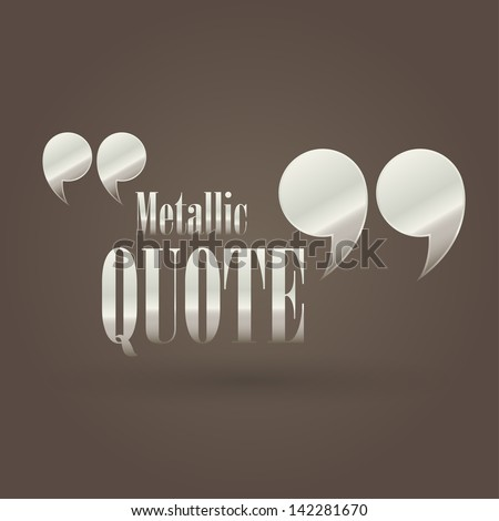 illustration with metallic quote